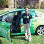 Bowie Student and Toyota Prius