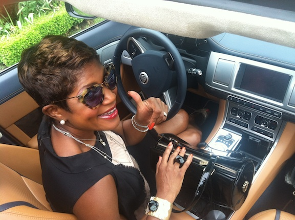 Jocelyn R. Taylor in the 2012 Jaguar XF