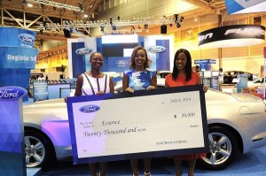 Ford Essence Festival Check Presentation