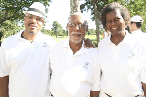 SekouWrites of SimplyRides.com with George and Janet Morrison, founders of the Morrison Golf Classic. Photo by Brittney M. Walker