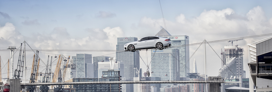 REVEALED: A 2016 JAGUAR XF On A Tightrope
