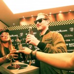 Eve (rapper) and her husband, Maximillion Cooper of Gumball 3000, share some champagne