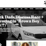 screenshot of Ebony.com web page: Black dads discuss race and parenting