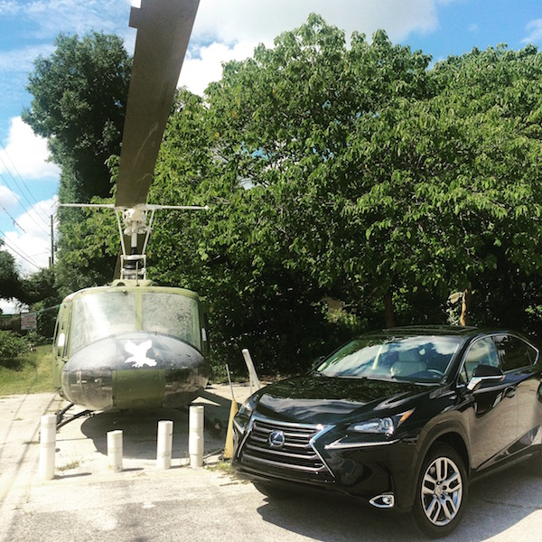 lexus nx and helicopter