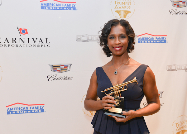 The 24th Annual Trumpet Awards will air on Bounce TV on Friday, January 29 at 9 p.m. ET, and on Sunday, January 31 at 11a.m. ET. (Photo of Alicia Boler-Davis by Todd Burford for Cadillac