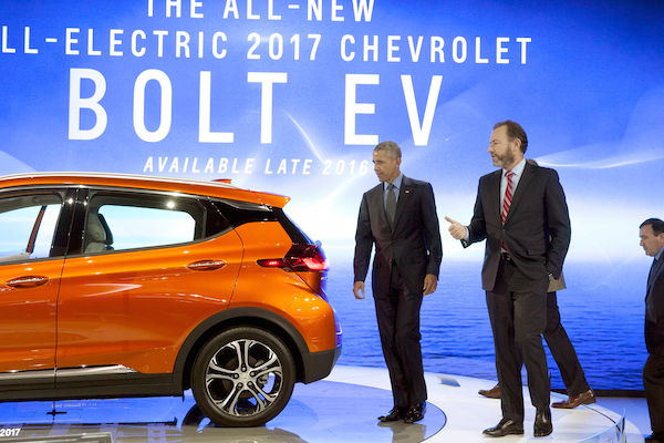 General Motors Introduces The Chevrolet Bolt to President Obama