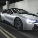 BMW i8 in highway tunnel