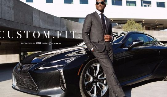 Blair Underwood gets custom fitted for the Lexus LC 500